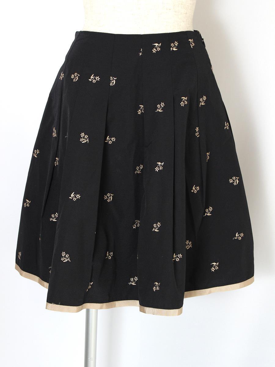 エムズグレイシー スカート 花柄 刺繍