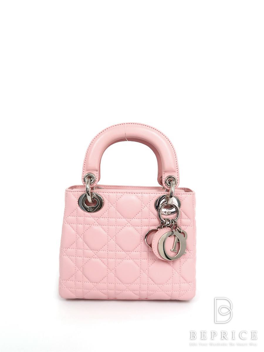 ディオール ハンドバッグ Dior ディオール ハンドバッグ カナージュ ラムスキン ミニ