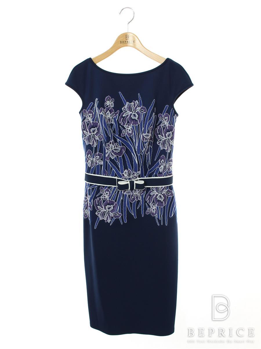 タダシショージ ワンピース ワンピース ドレス 花柄 刺繍