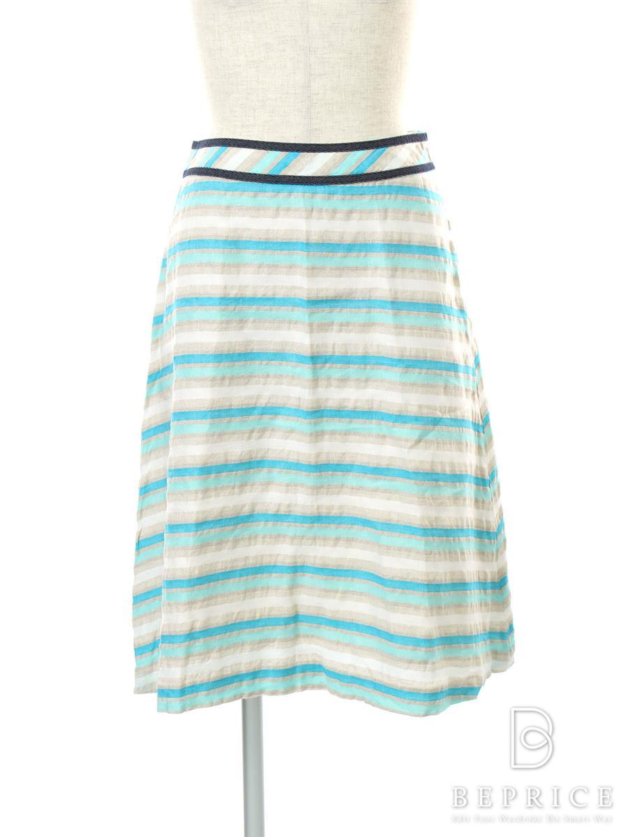 エムズグレイシー スカート スカート フレアー ボーダー