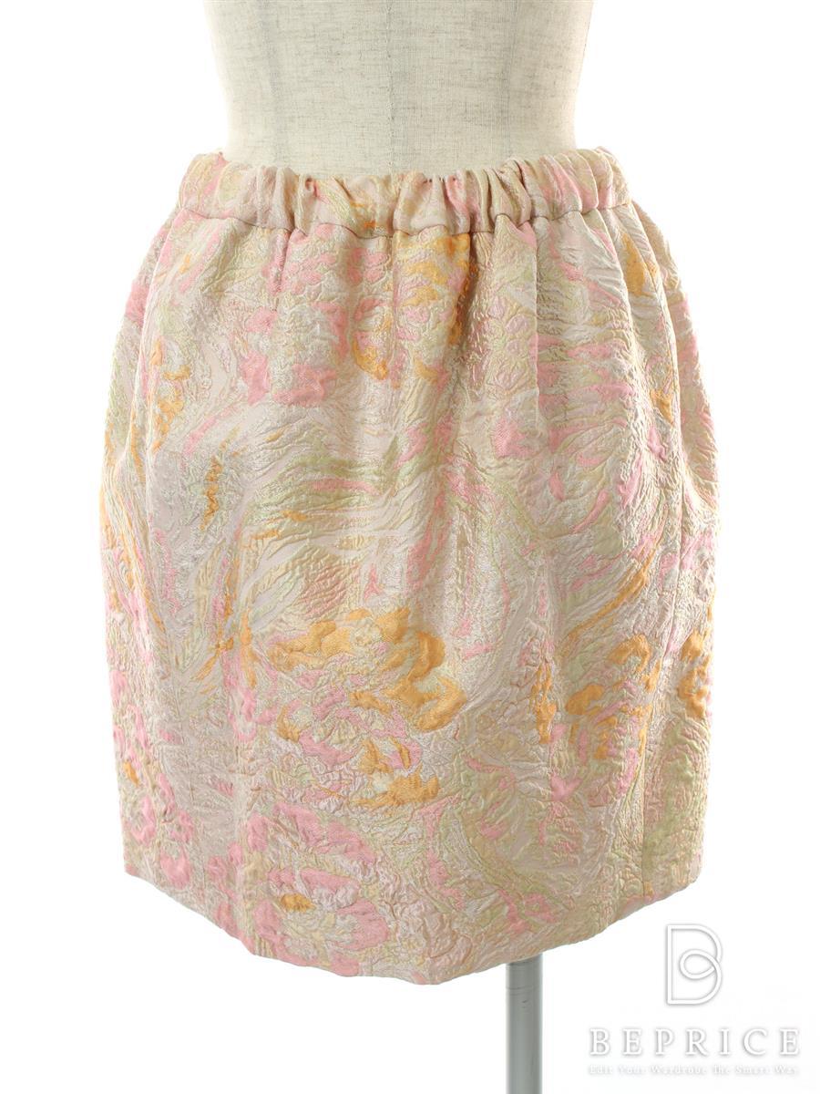 ドゥロワー スカート スカート 型押し柄