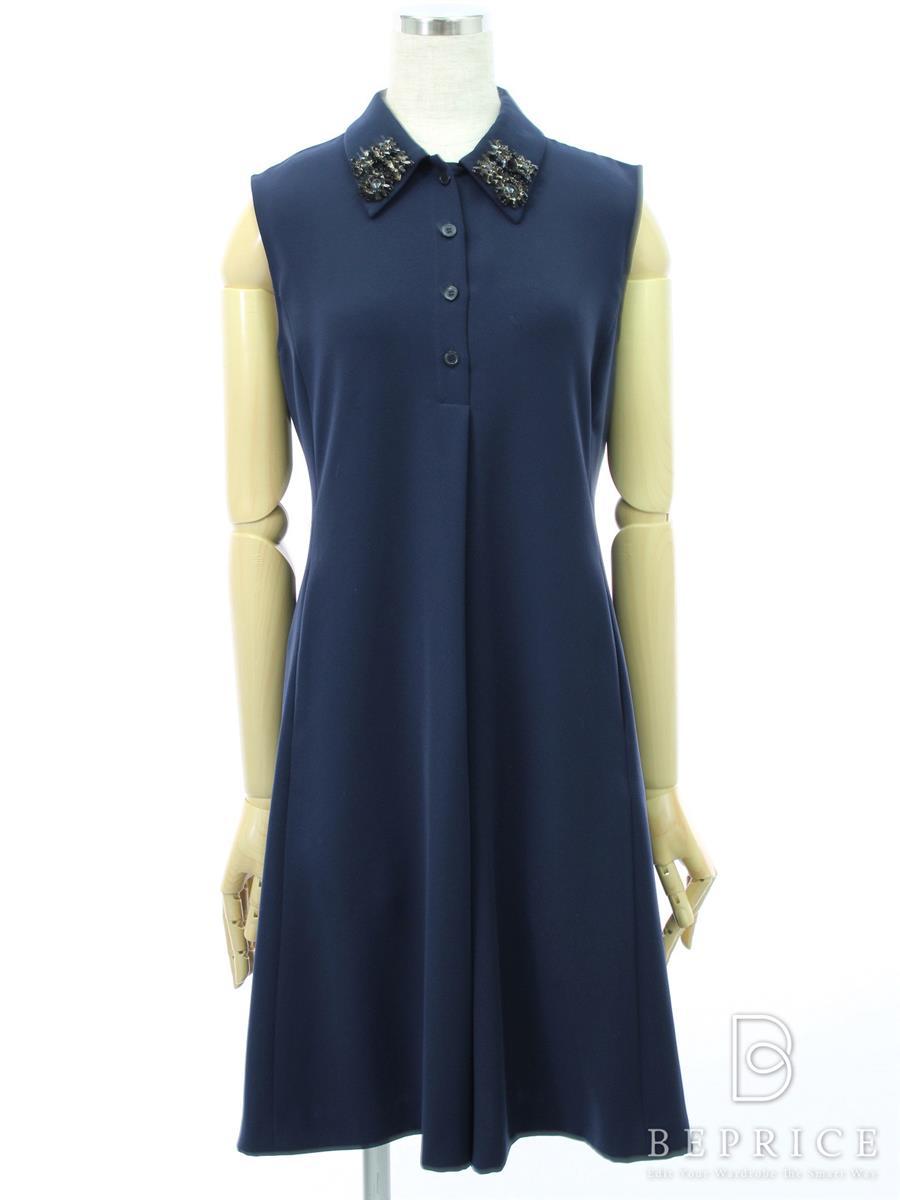 フォクシーニューヨーク Collection ワンピース ワンピース EMBROIDERED CREPE SHIRT Dress Collection 34119