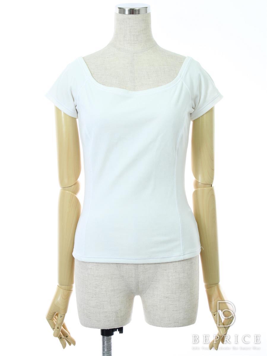 フォクシーニューヨーク Tシャツ カットソー トップス 半袖 ベロア 19848