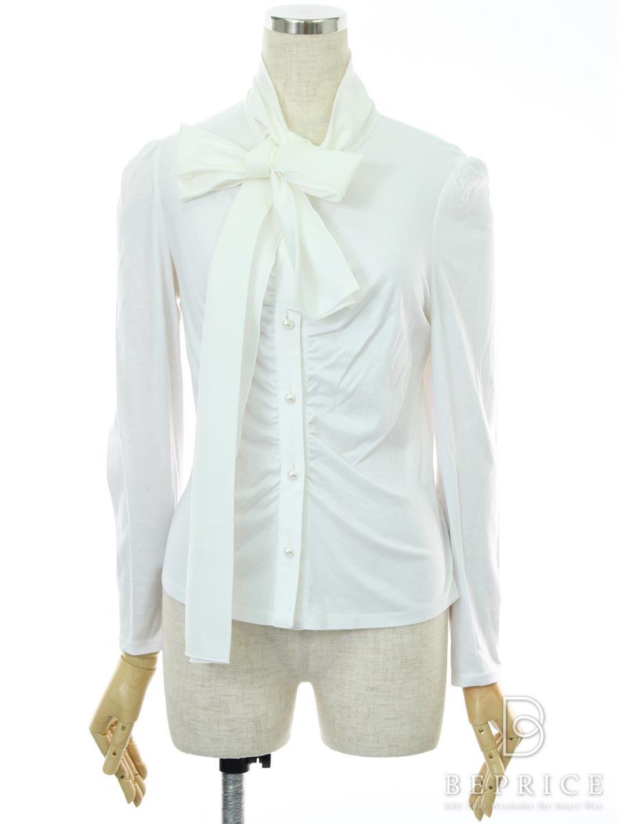 エムズグレイシー Tシャツ カットソー トップス 長袖 ボタン取れかけ・薄シミあり