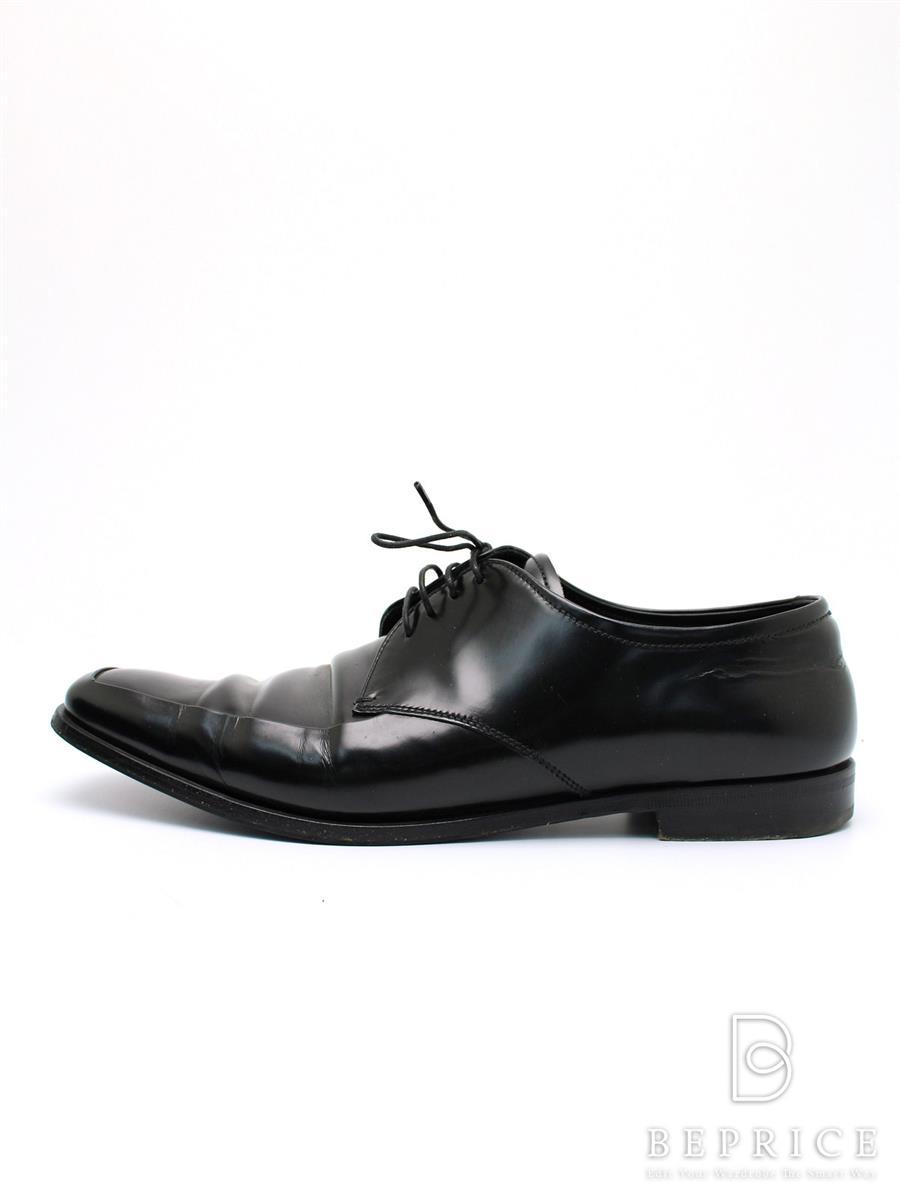 プラダ 靴 シューズ レザー ビジネス スレ小傷あり