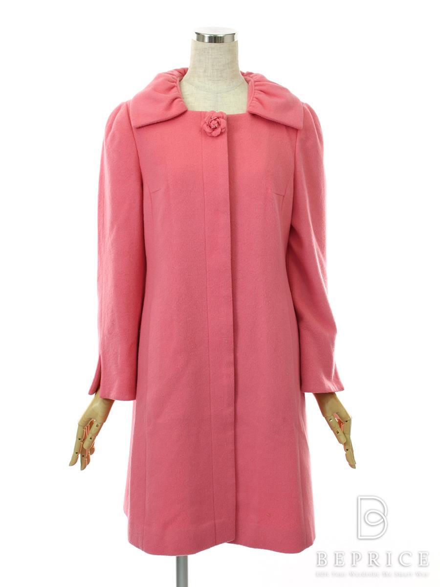 エムズグレイシー コート 衿付き フロントボタン カシミヤ