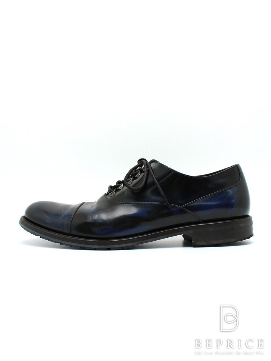 トッズ ブーツ シューズ ドレス ビジネス S-TIP ヴィンテージブルー 履きジワ・スレ等あり