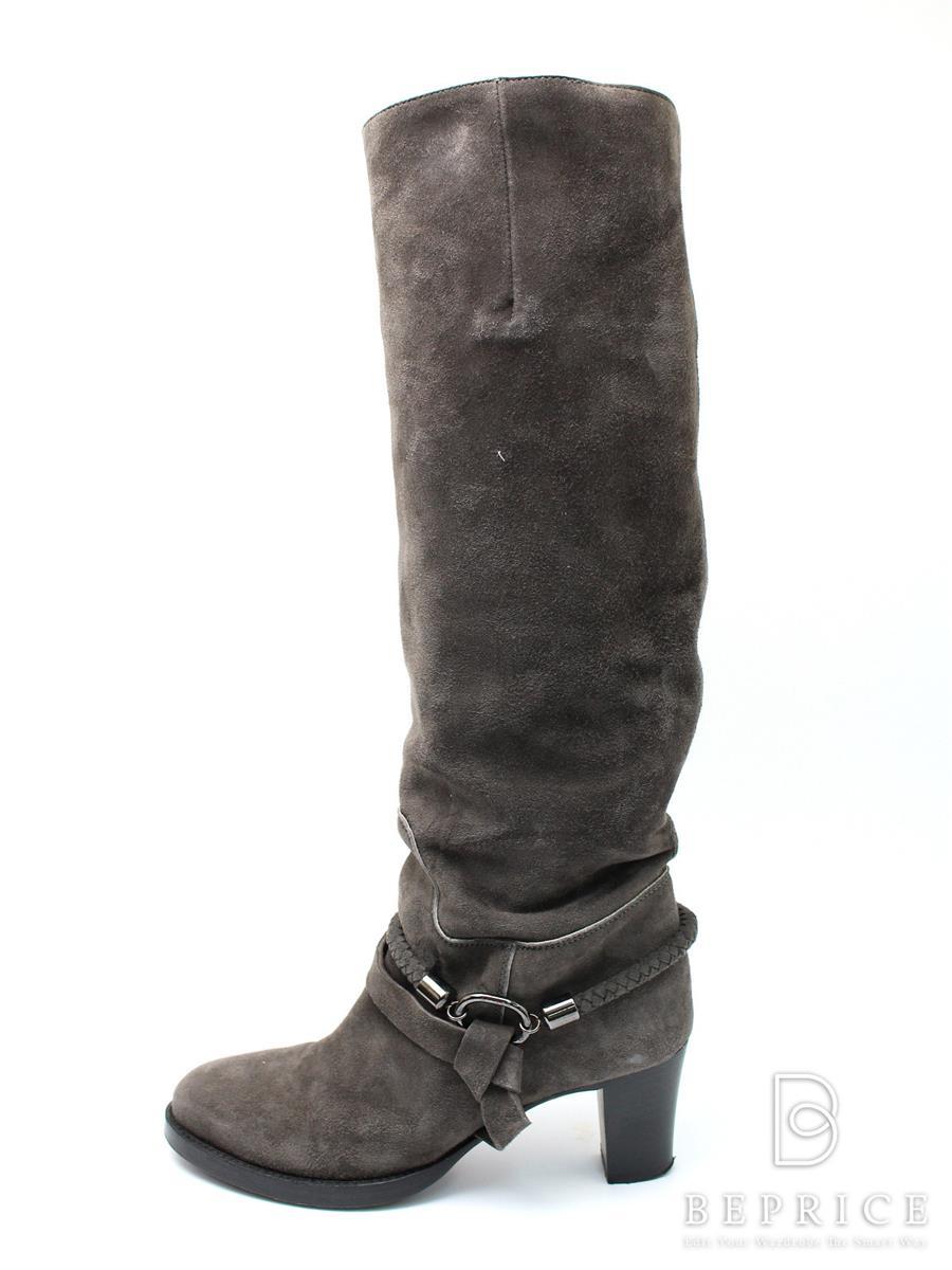 ブッテロ ブーツ BUTTERO ブッテロ ブーツ ロング ペコス スウェード スレあり