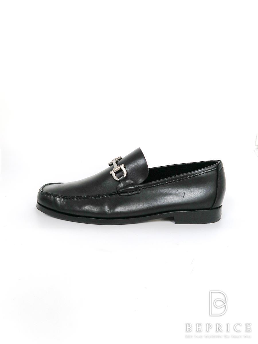 サルヴァトーレフェラガモ ブーツ 靴 ローファー シューズ ベルト ガンチーニ 汚れあり