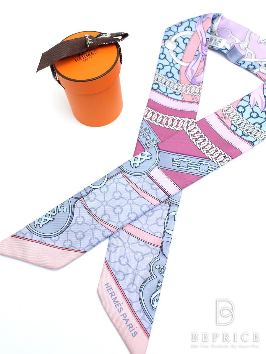 エルメス スカーフ ツイリー 朝の散歩 シルク
