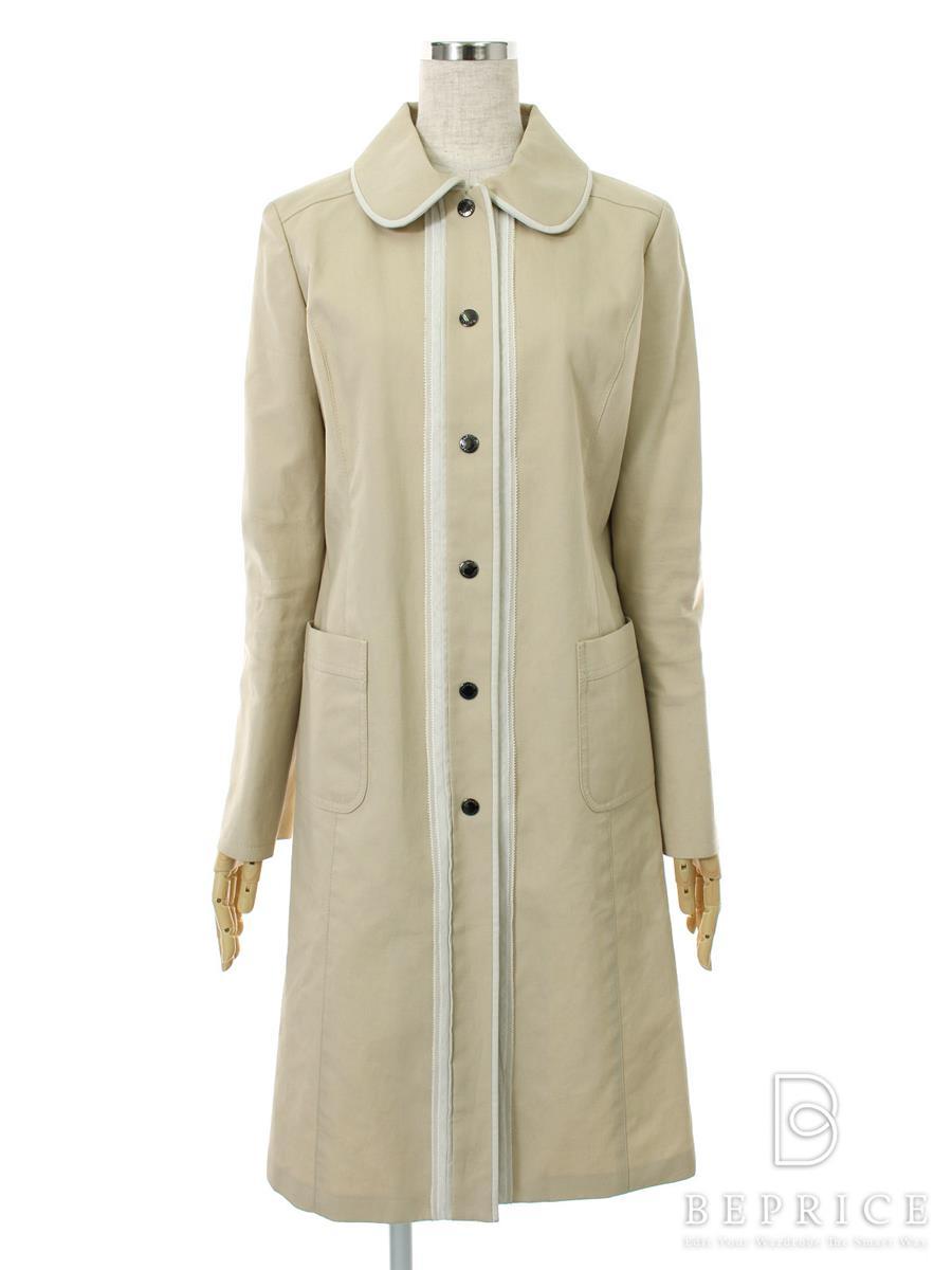ハロッズ コート スプリング 衿付 首元薄変色・袖汚れあり