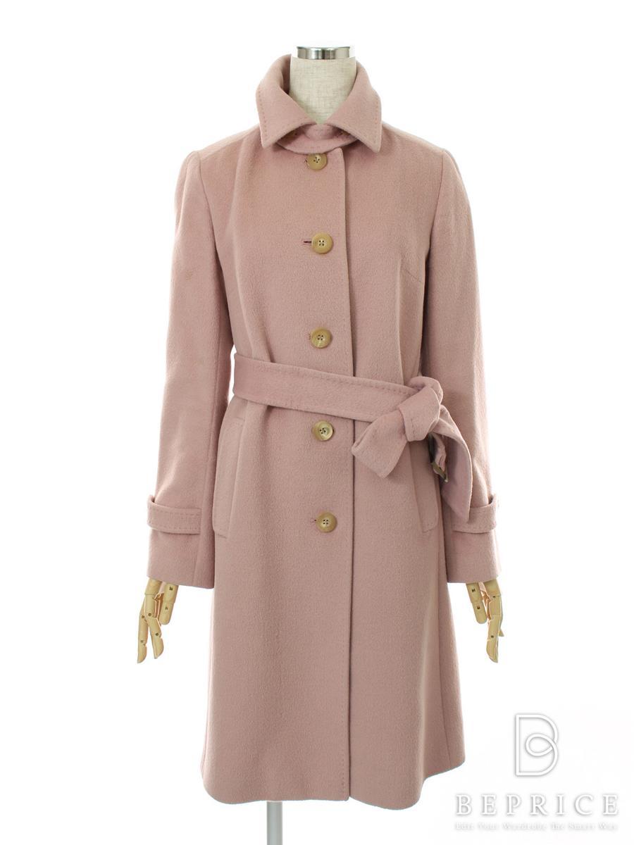 オールドイングランド OLD ENGLAND オールドイングランド コート 衿付 アンゴラ混 首元変色・やや色褪せあり