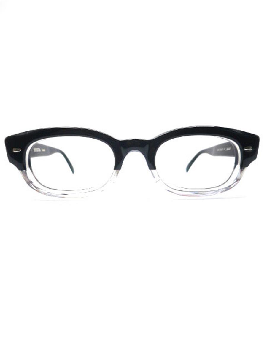 エフェクター 眼鏡 ブラック メガネフレーム