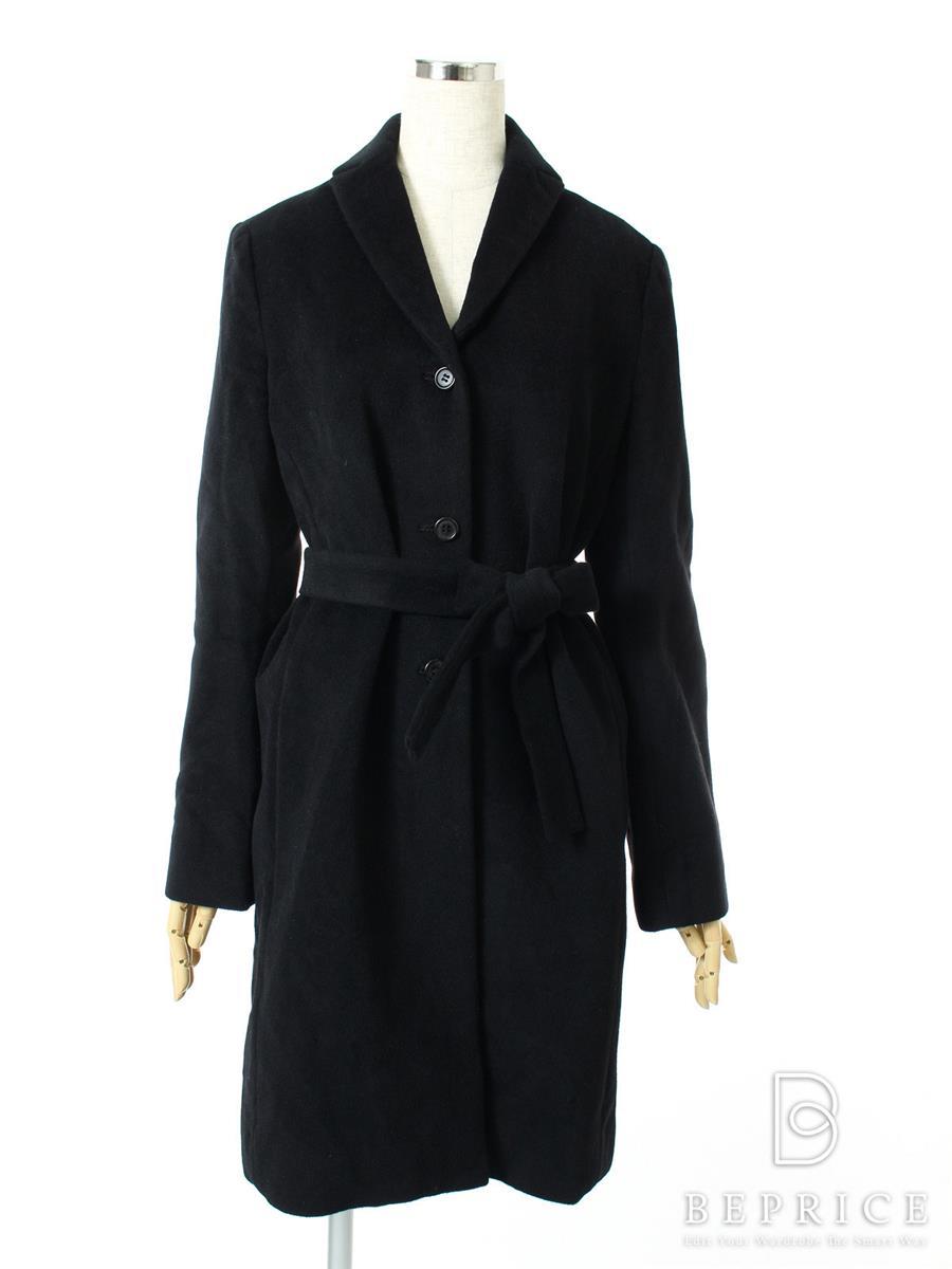 ヨーコチャン コート 衿付き アンゴラ混 ブランドタグ糸切れあり