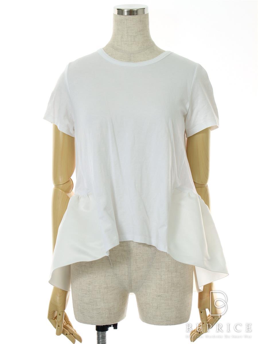 ヨーコチャン Tシャツ カットソー トップス 半袖 フロントギャザー