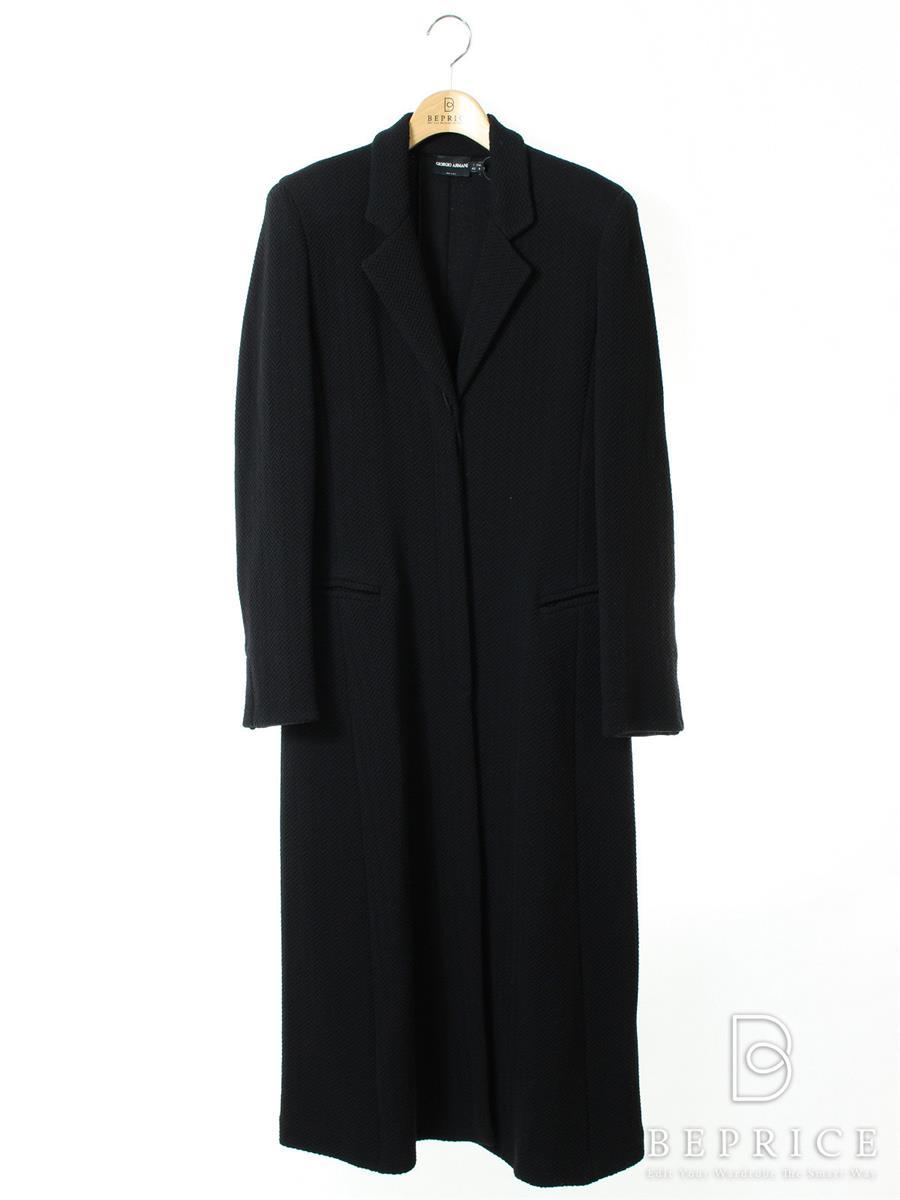 アルマーニ ロングコート ニット 衿付