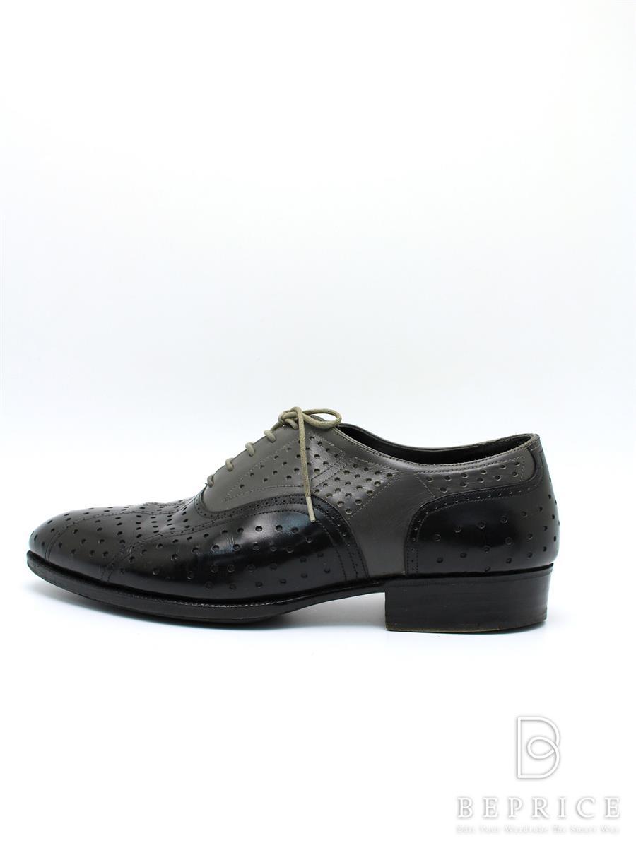 ジョンロブ ブーツ 靴 シューズ パンチング ソール汚れあり