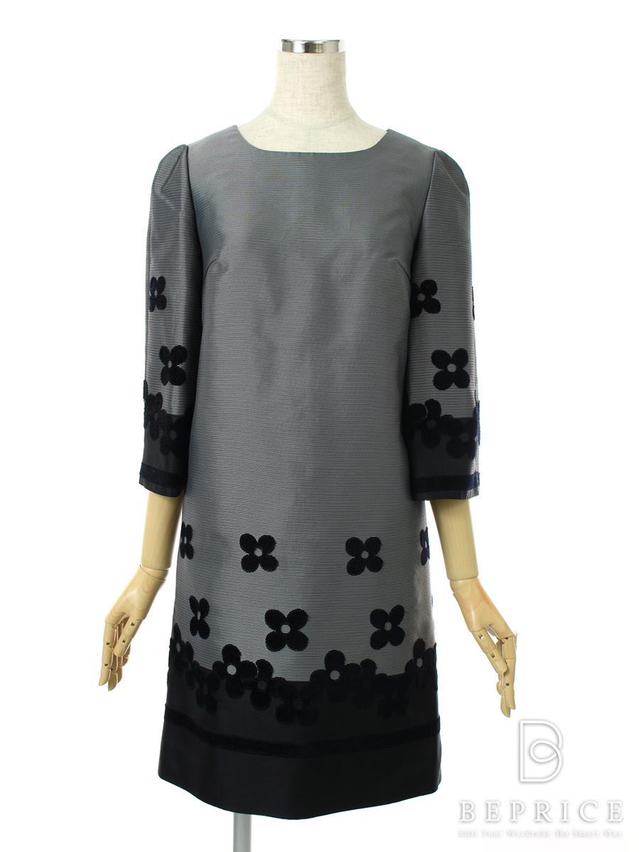 エムズグレイシー ワンピース ワンピース ベロア花柄刺繍 7分袖