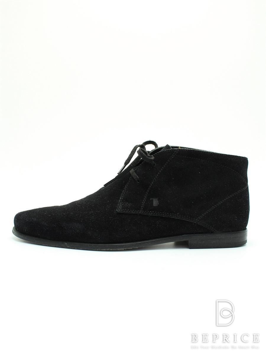 トッズ 靴 チャッカブーツ シューズ スエード スレ汚れあり