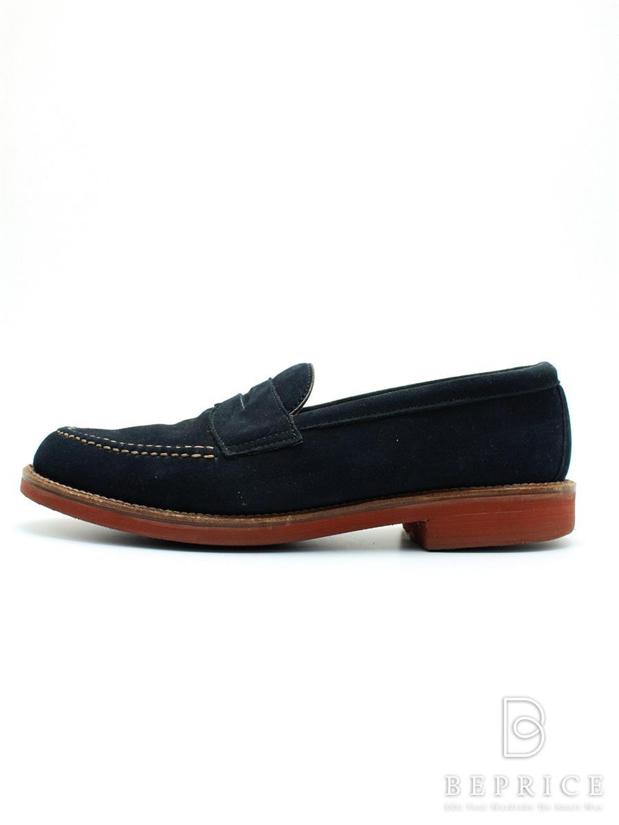 オールデン ALDEN オールデン 靴 コインローファー スエード スレ汚れあり