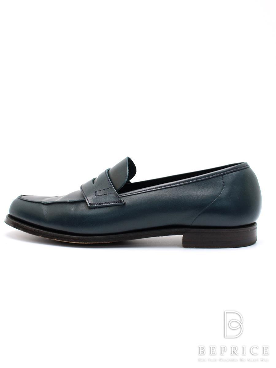 クロケット&ジョーンズ Crockett&Jones クロケットアンドジョーンズ 靴 ローファー スレ変色あり