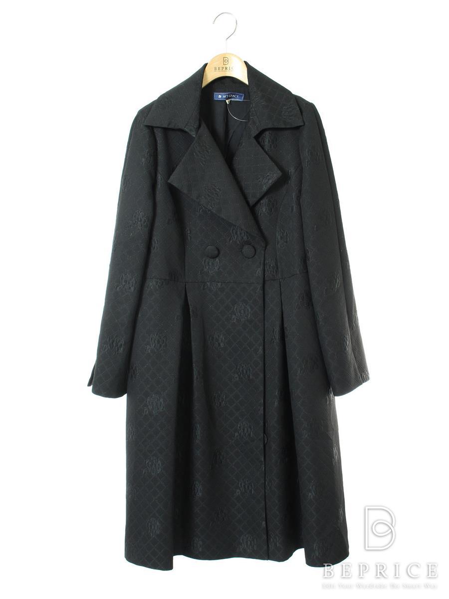 エムズグレイシー コート フラワーモチーフ ベルト欠品