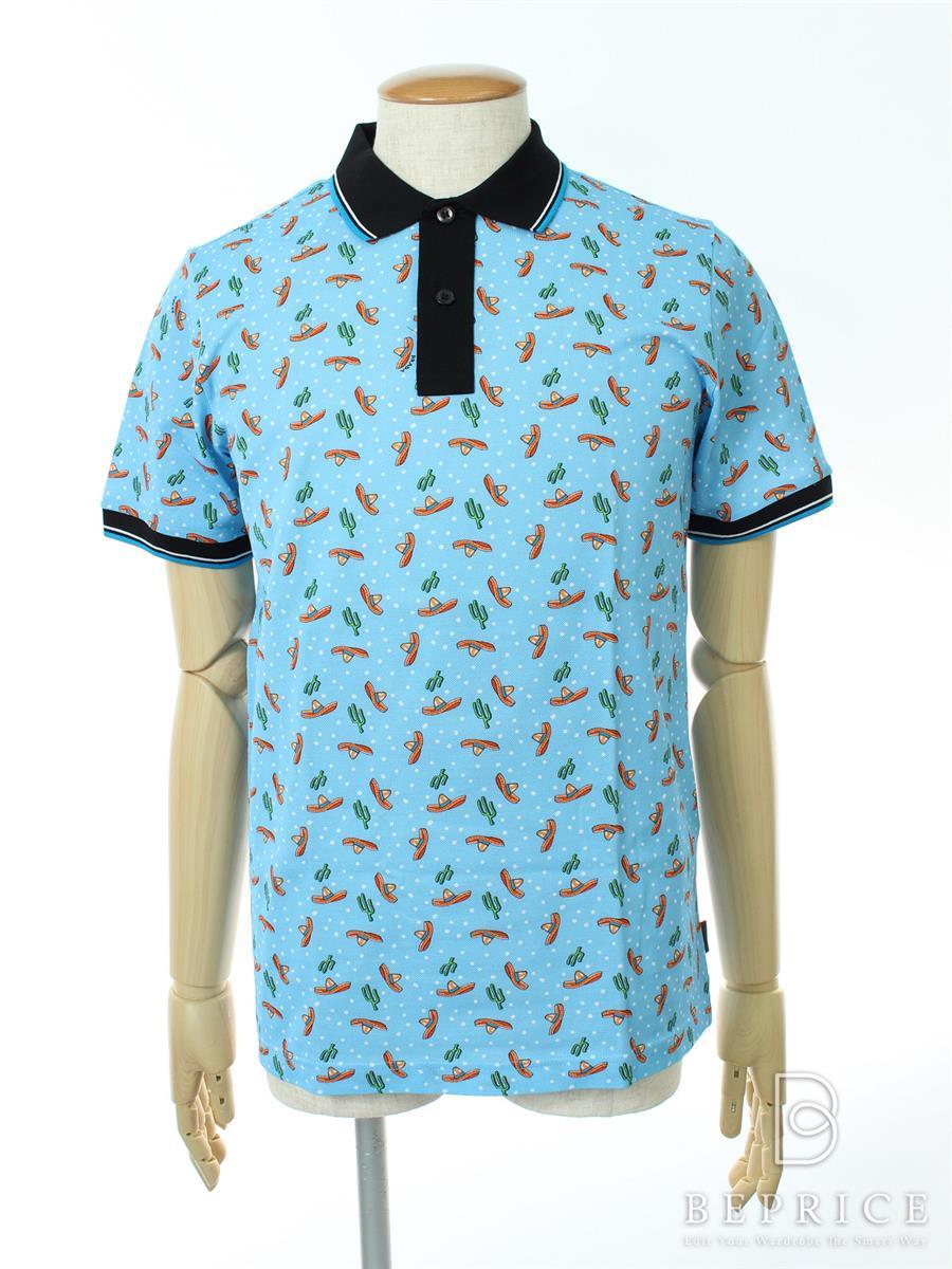 プラダ トップス ポロシャツ 半袖 テンガロンハット柄