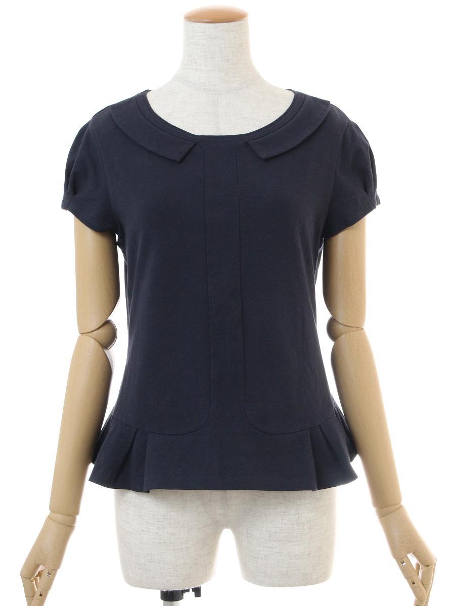 フォクシーニューヨーク Tシャツ カットソー トップス タックペプラム 色あせあり 26170