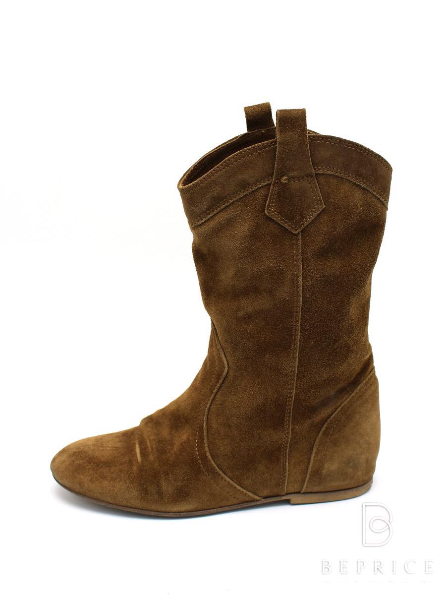ファビオルスコーニ 靴 ショートブーツ スエード スレ変色あり