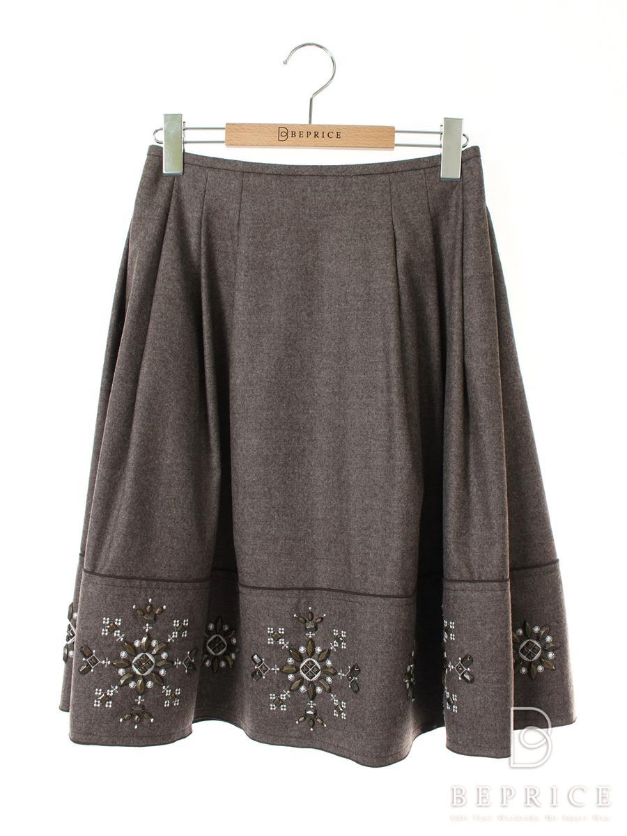 フォクシーブティック スカート ウール 装飾