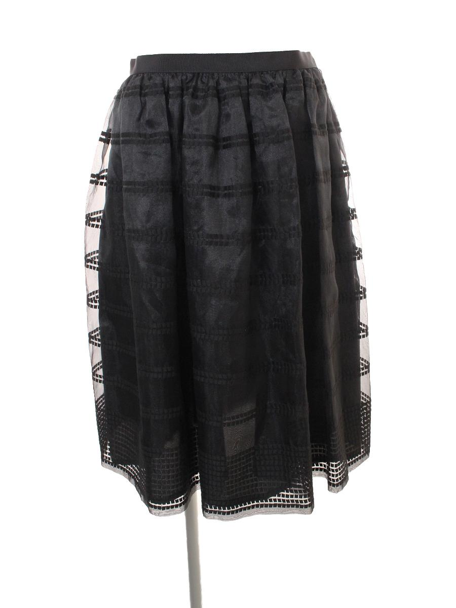 フォクシーニューヨーク Collection スカート Stripe Organza Collection