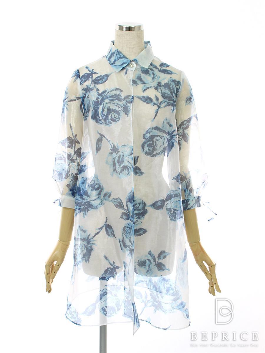 エムズグレイシー コート オーガンジー 花柄