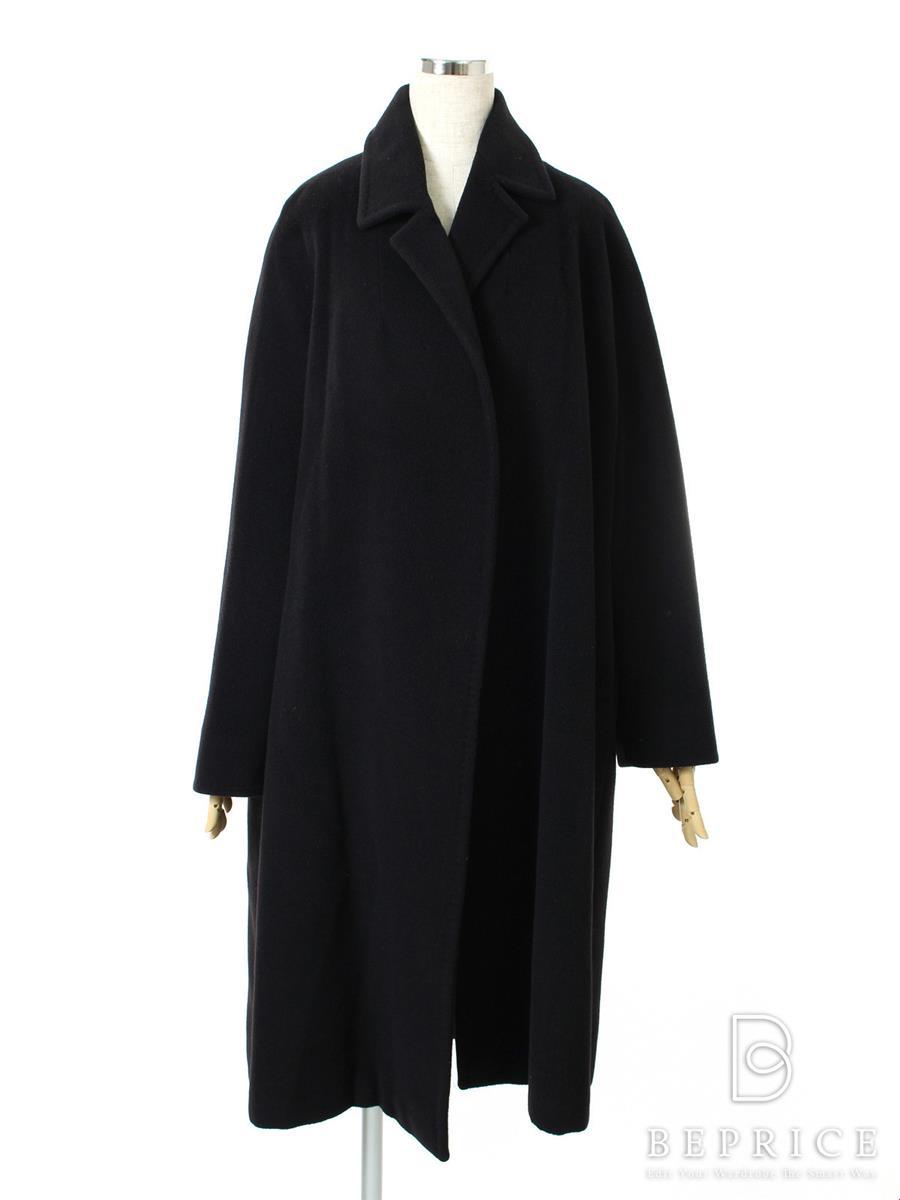 コート コート ロング 衿付 ボタンなし