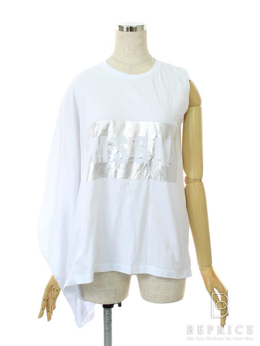 エムエスジーエム Tシャツ カットソー MSGM エムエスジーエム トップス 変形 半袖
