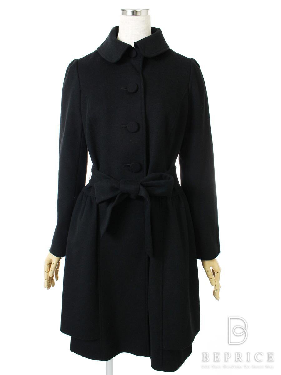 エムズグレイシー コート 襟付き フロントボタン カシミヤ混