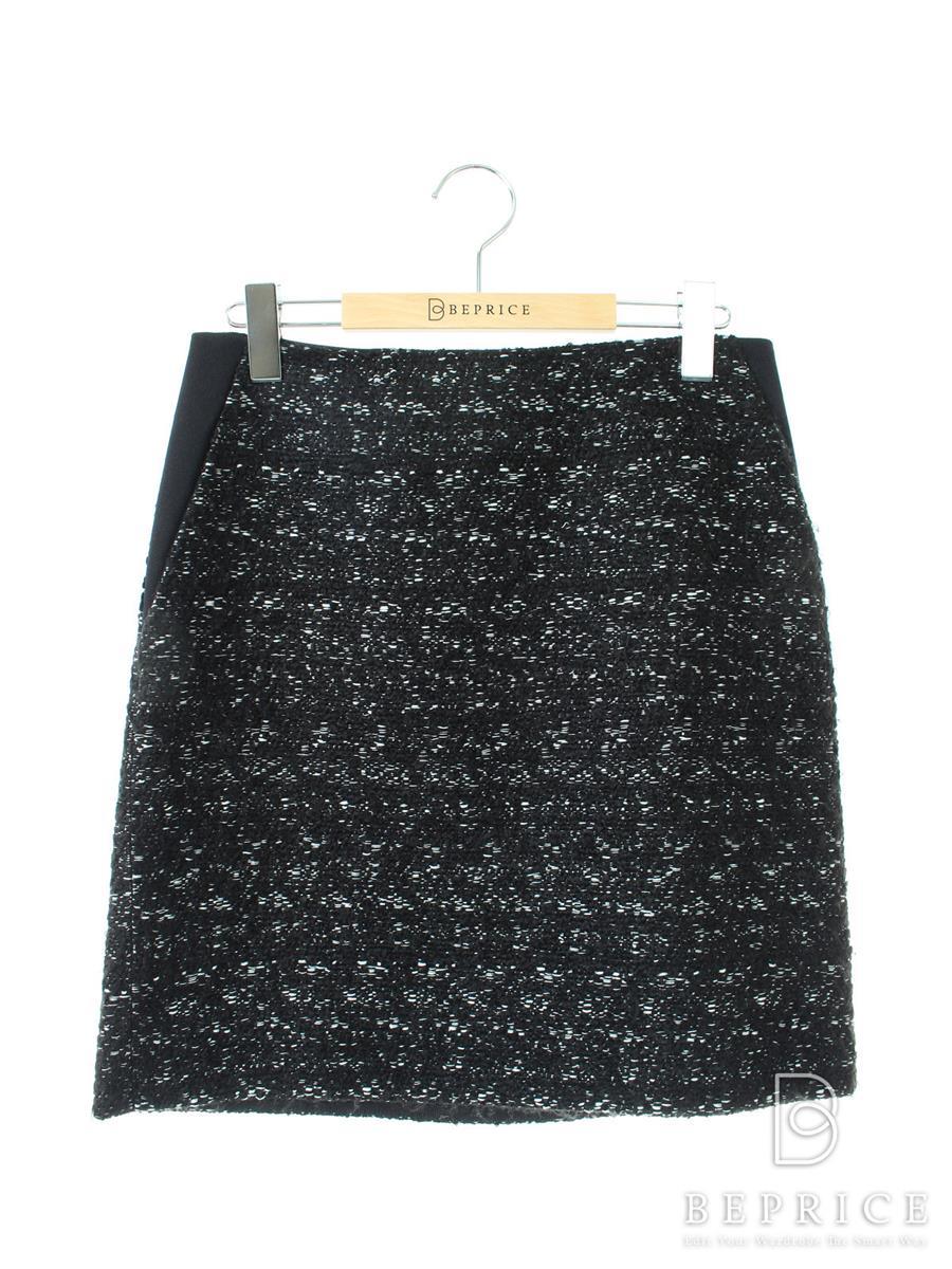 アドーア スカート ツイード ブラック