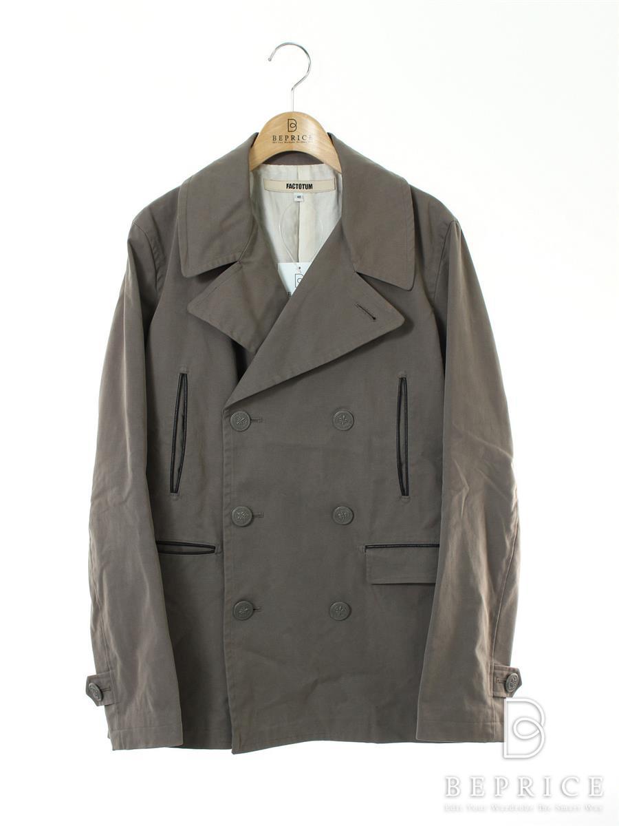ファクトタム FACTOTUM ファクトタム ジャケット Pコート 変色汚れあり