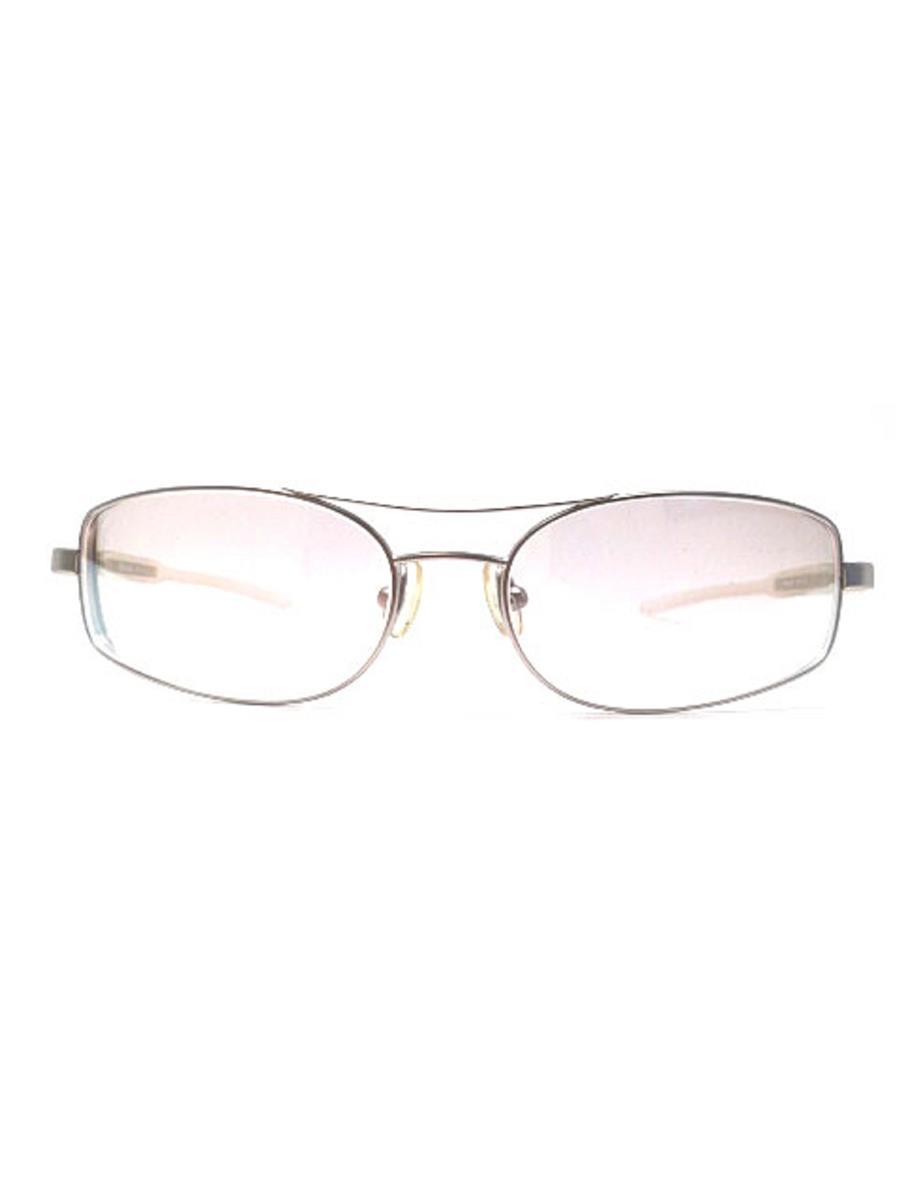 プラダ 眼鏡 メガネフレーム メタル シルバー