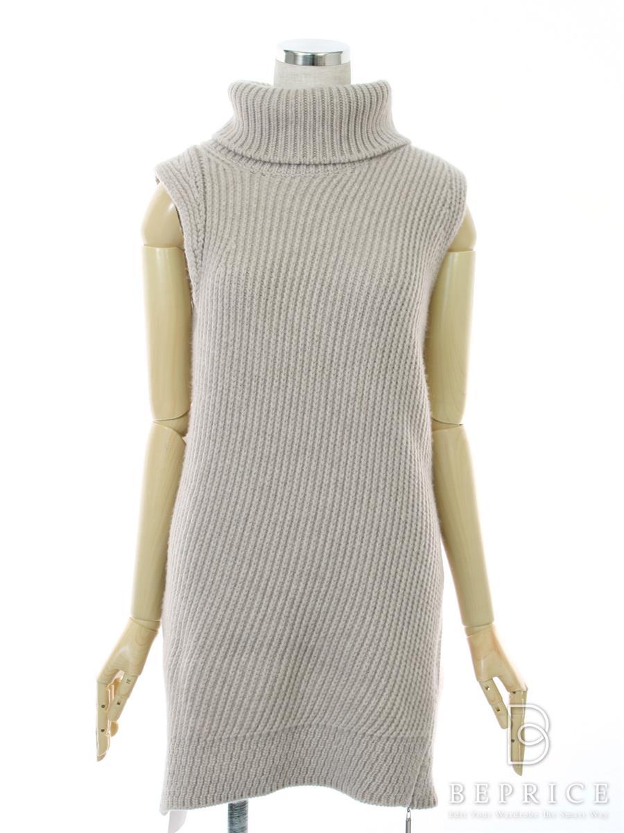 フォクシー ニット 2016年 トップス Sleeveless Turtleneck Sweater 36542 ベージュ