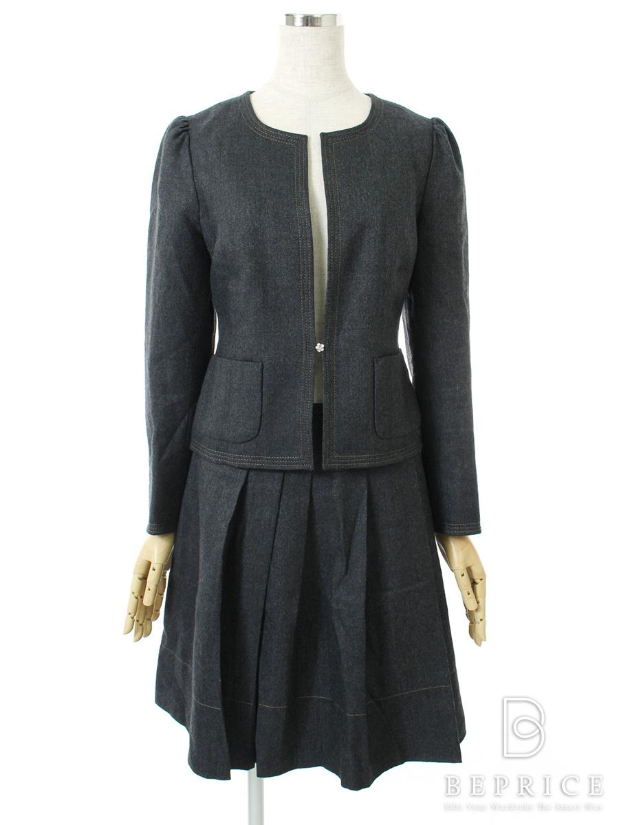 エムズグレイシー スカートスーツ スーツ スカート ジャケット デニム地風