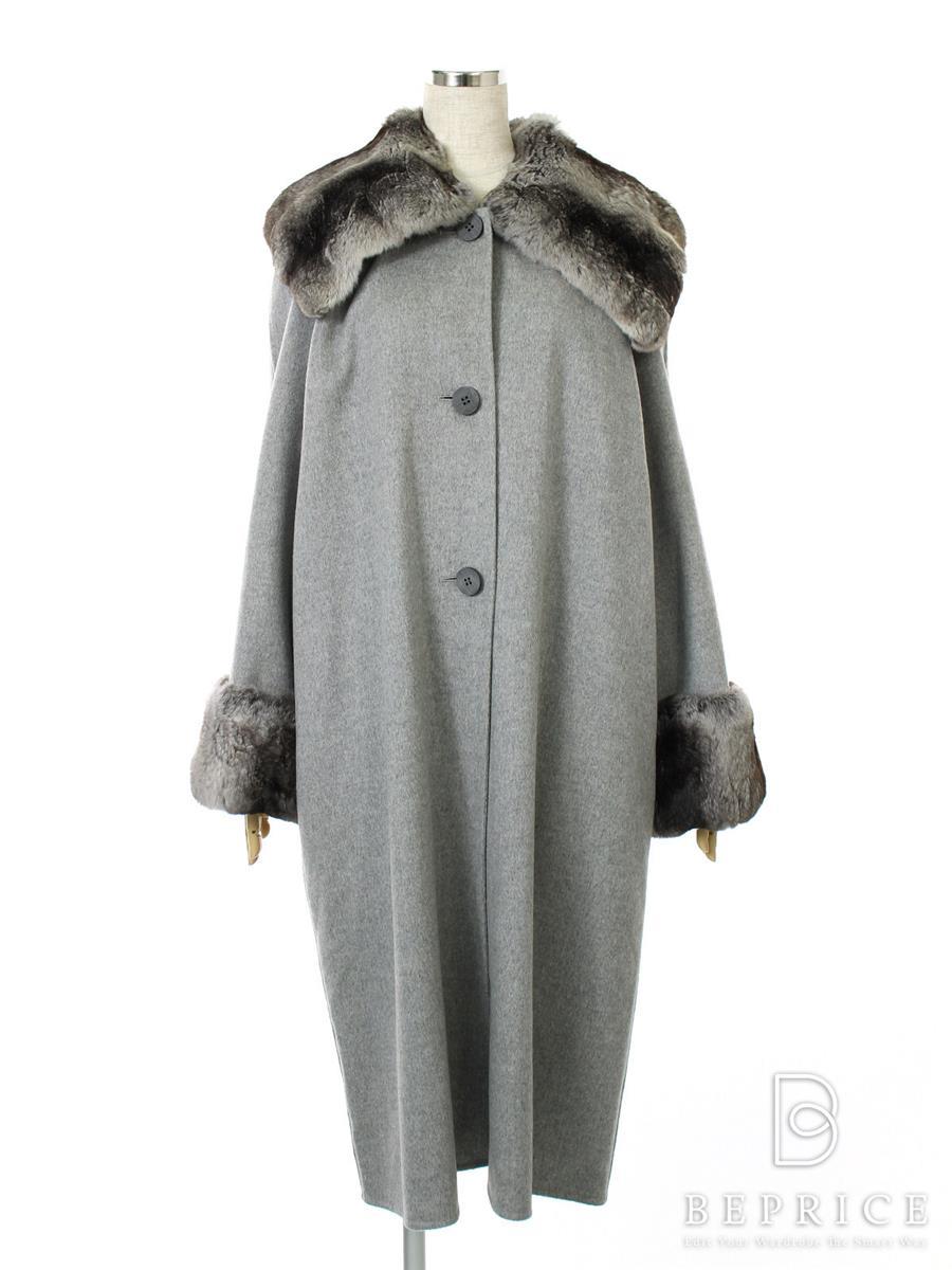 フォクシーブティック コート コート ロング カシミア チンチラファー付き 16112