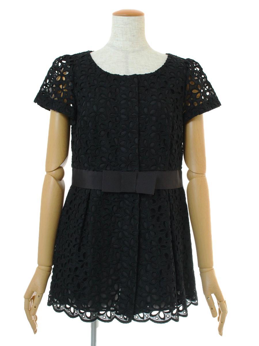 エムズグレイシー Tシャツ カットソー トップス 半袖 カットワーク