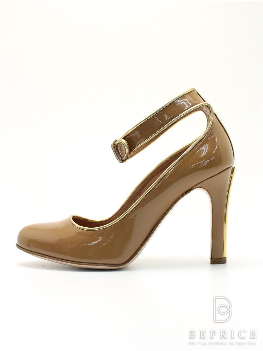ミュウミュウ 靴 パンプス ベルト エナメル