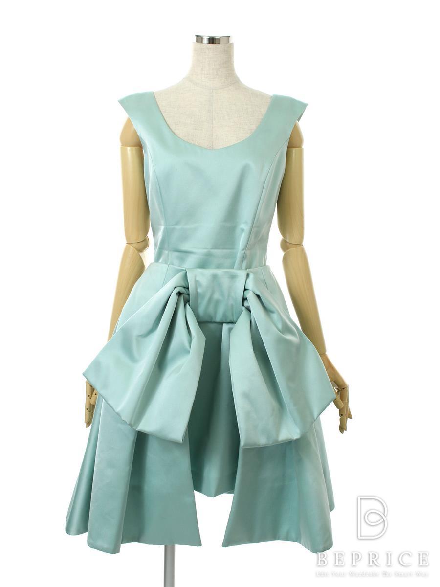 フォクシー ワンピース Dress 27098 巻きスカート付 ブルー