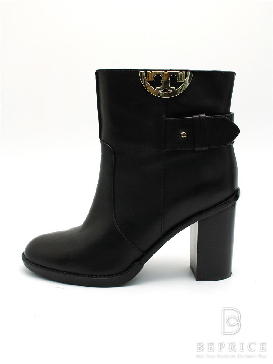 トリーバーチ 靴 ショートブーツ サイドジップ