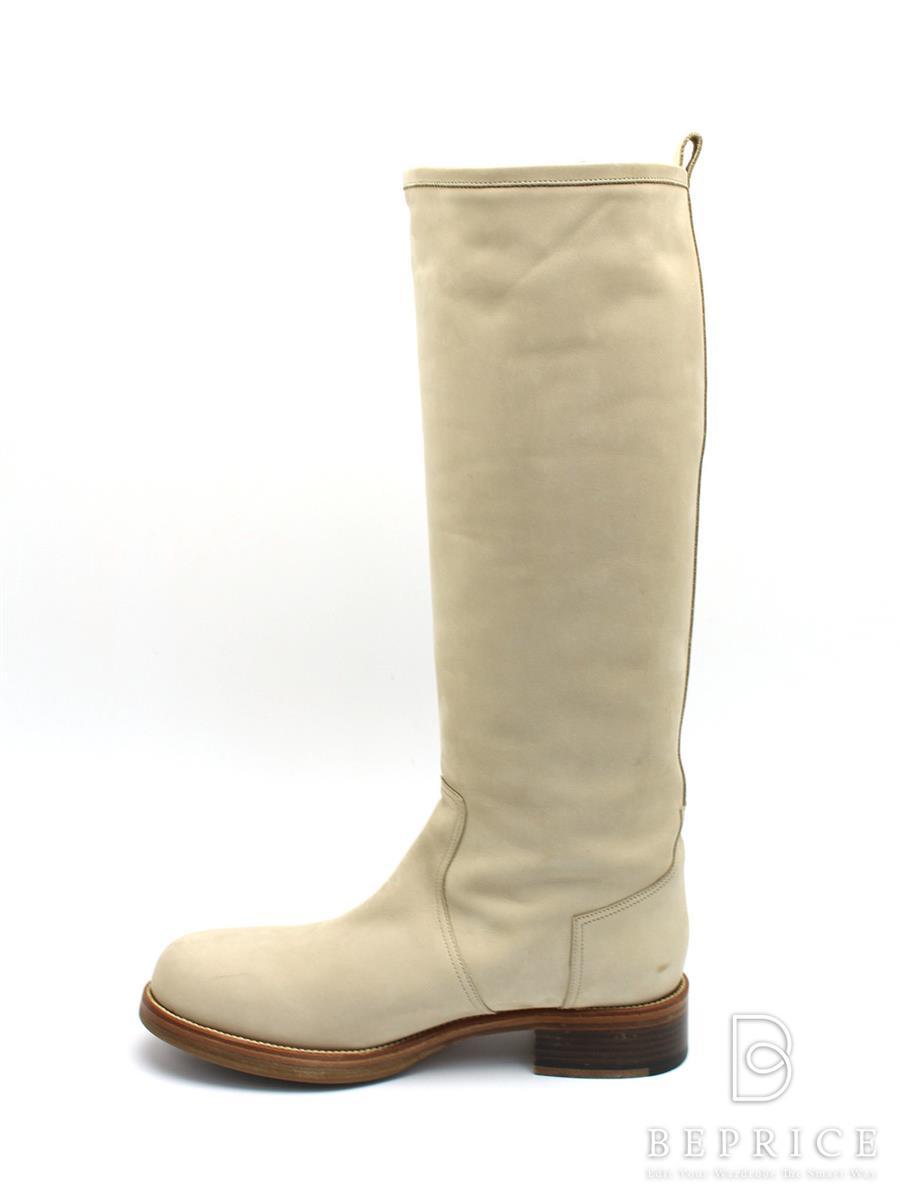 エルメス ブーツ 靴 ロングブーツ スエード 薄シミスレあり