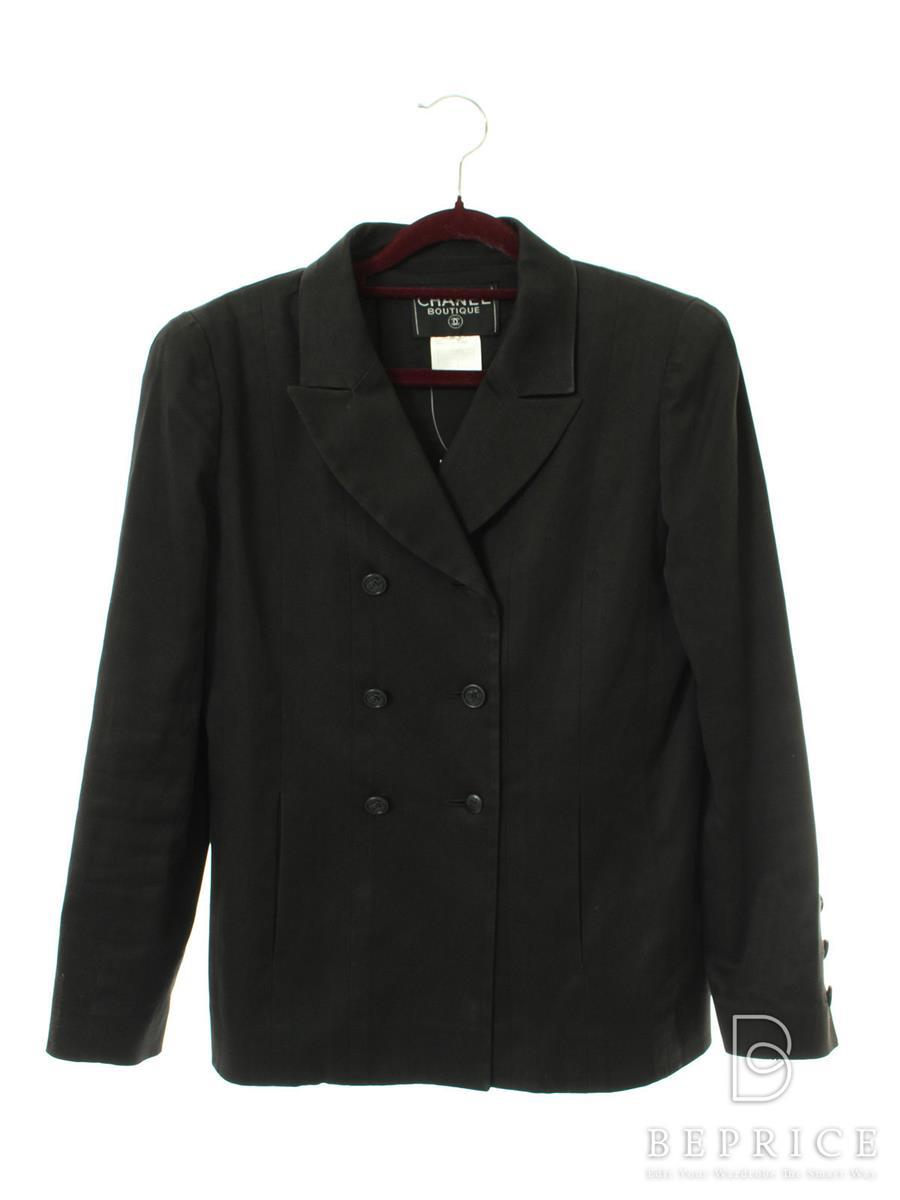 シャネル ジャケット ダブル ココマーク スレ汚れ・色褪せ感・ブランドタグと袖に引掻き跡あり
