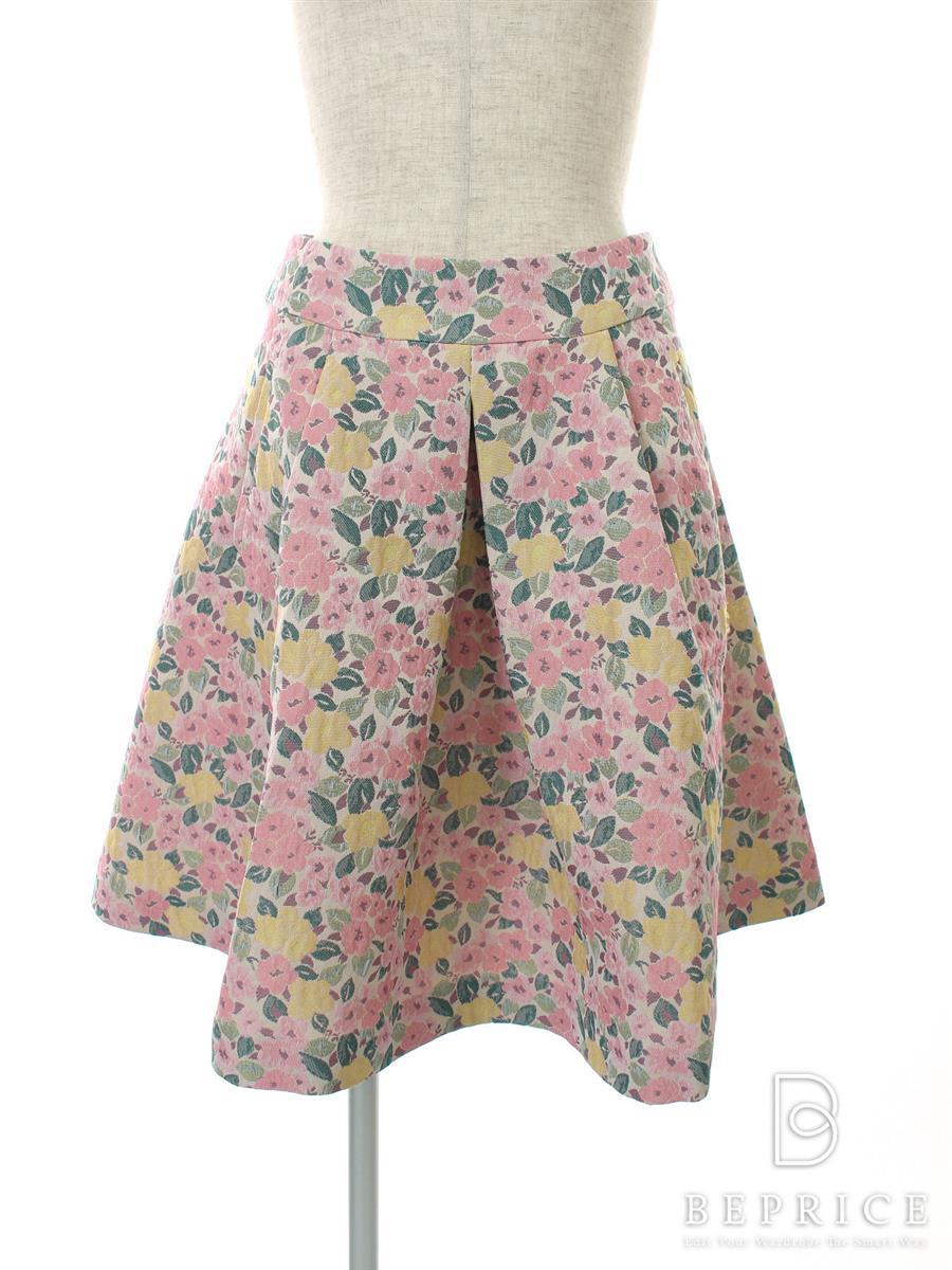エムズグレイシー スカート 花柄 フレアー