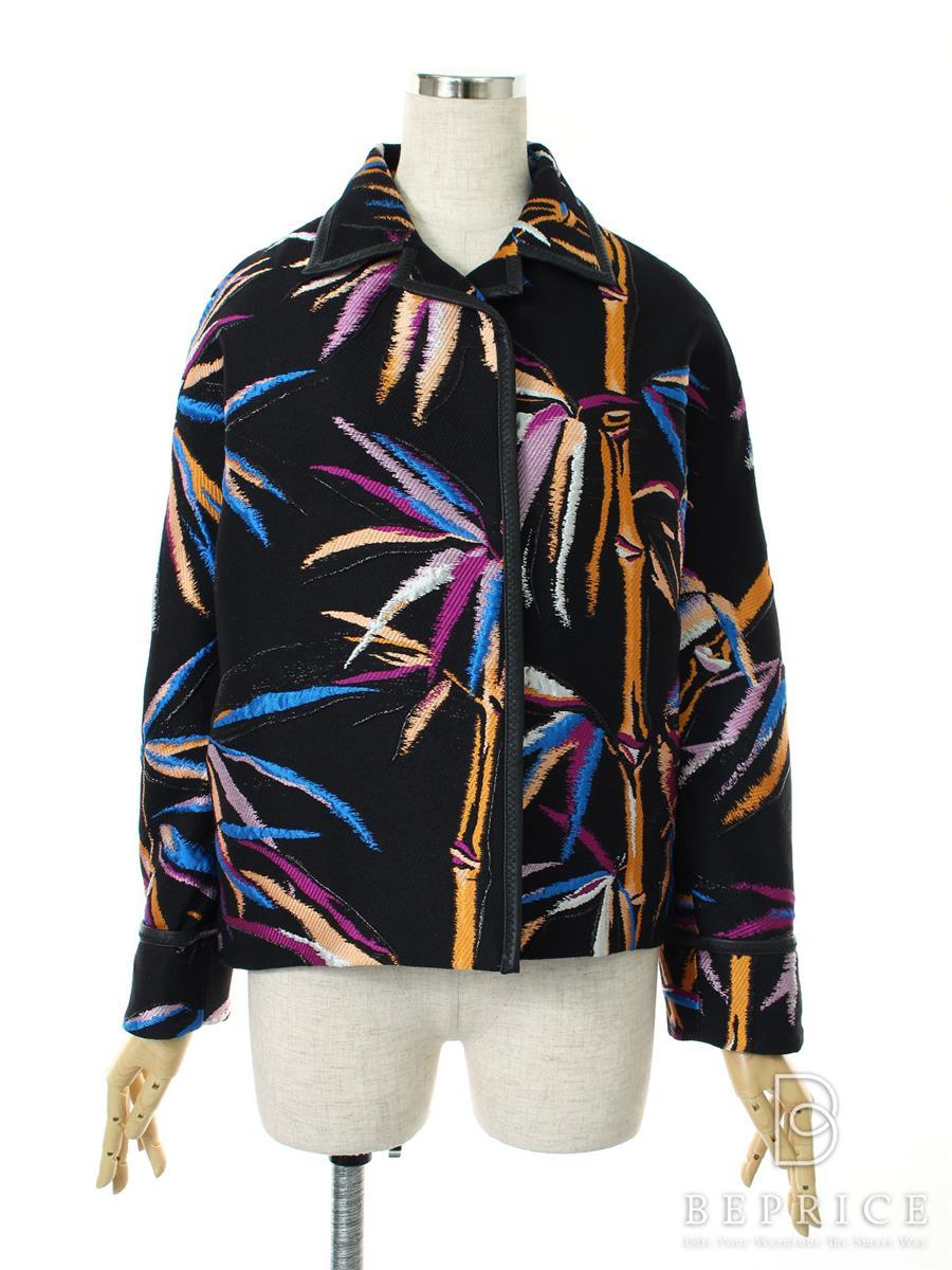 ジャケット ウールシルク 刺繍