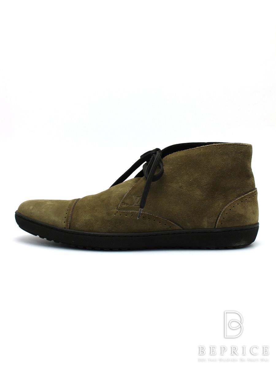 ルイヴィトン 靴 チャッカブーツ スエード 小さなスレ有り